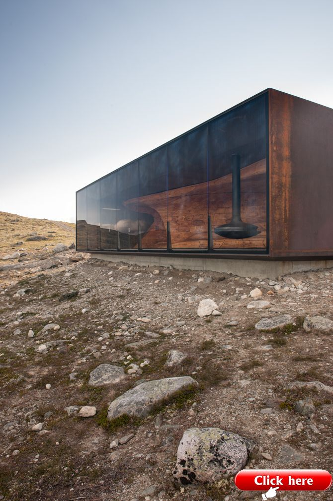 Home Design Minimalist Modern Pavilion Addition Green Interior Design Ideas: Snøhetta – Tverrfjellhytta, Norwegian Wild Reindeer Pavilion – 2019
