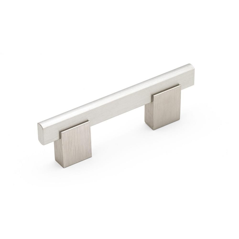 Contemporary 3 in. (76.2 mm) Brushed Nickel Cabinet Pull | Pinterest