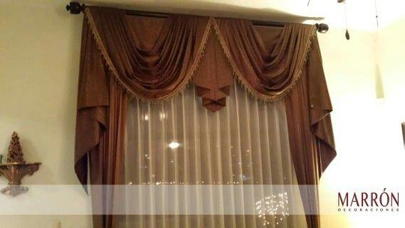 cortina con tergal curtain marron hermosillo cortinas diseo