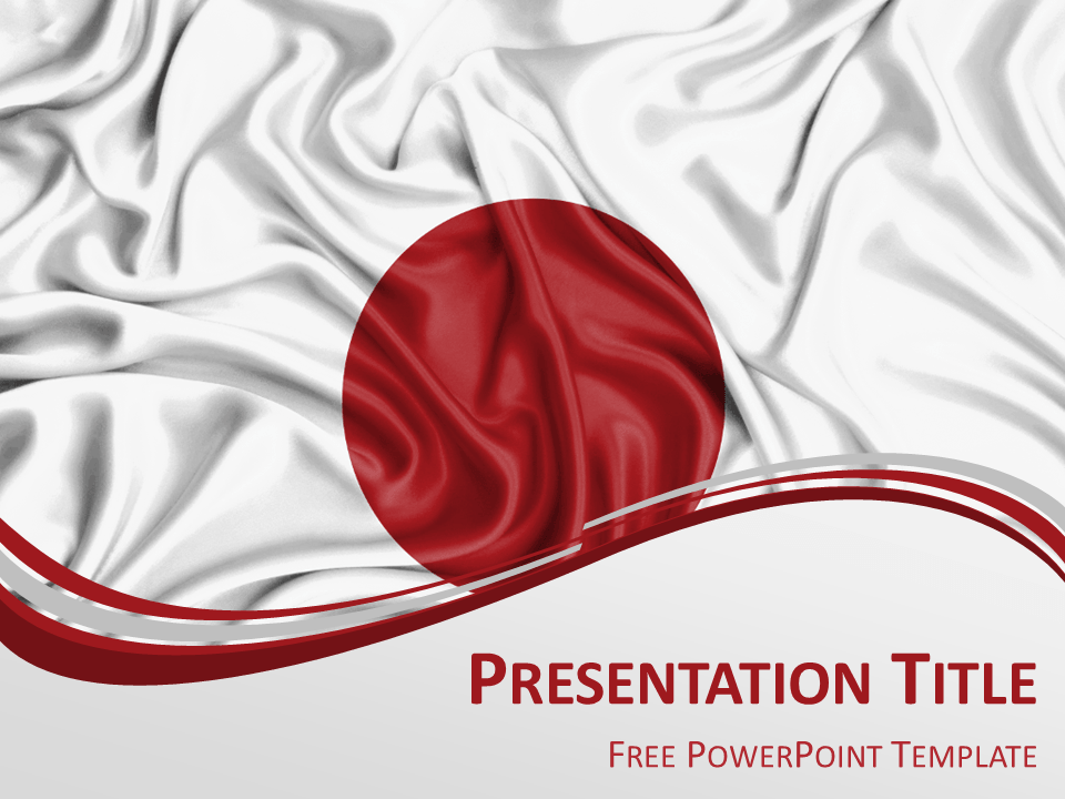Japan flag powerpoint template presentationgo powerpoint free powerpoint template with flag of japan background toneelgroepblik Image collections