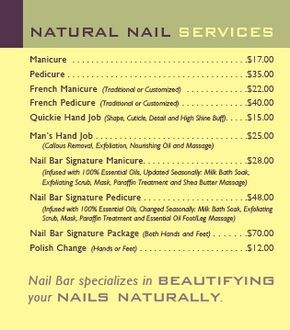 The Products We Use In Our Natural Nail Services Rival Those At