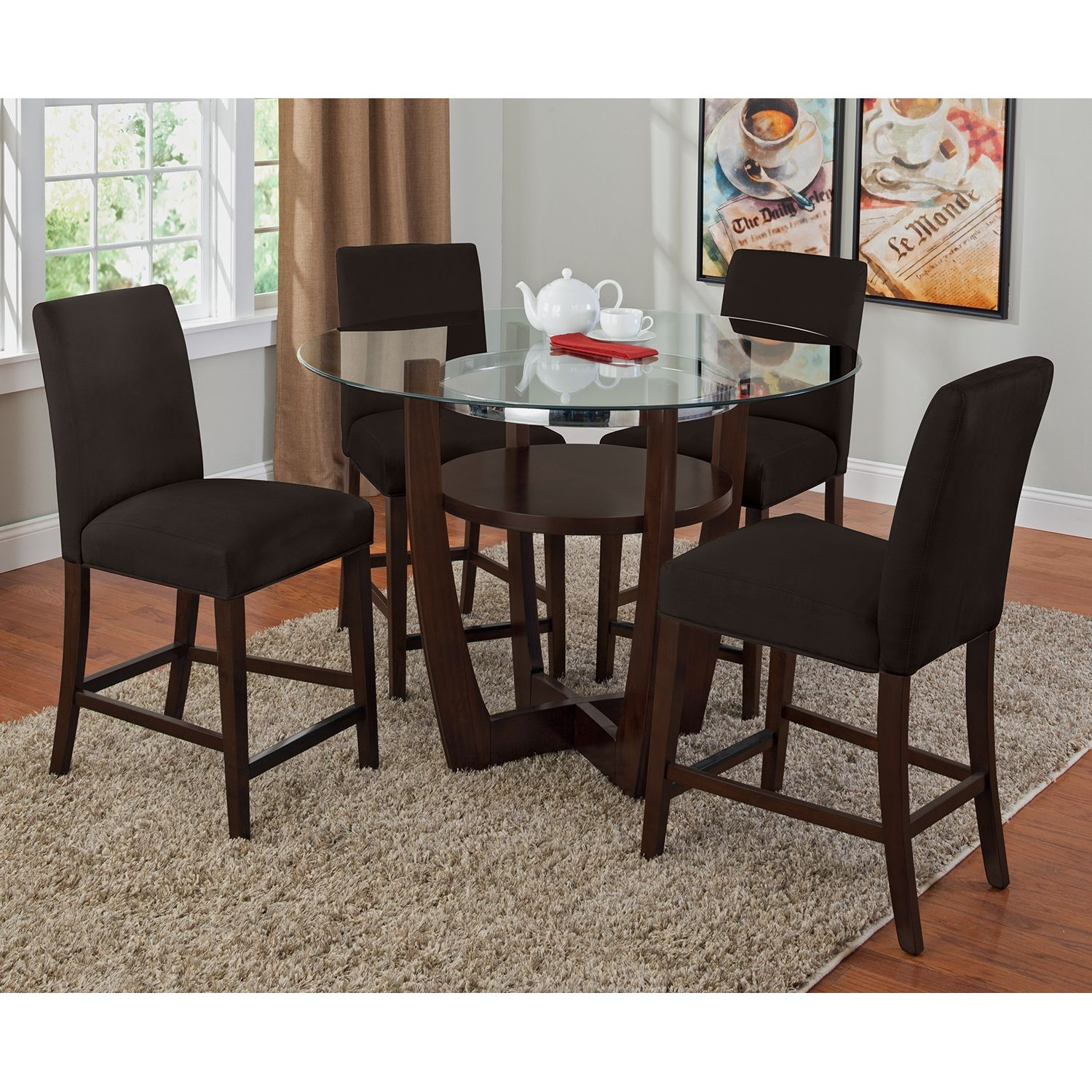 Alcove Chocolate Ii 5 Pc Dinette Value City Furniture Red
