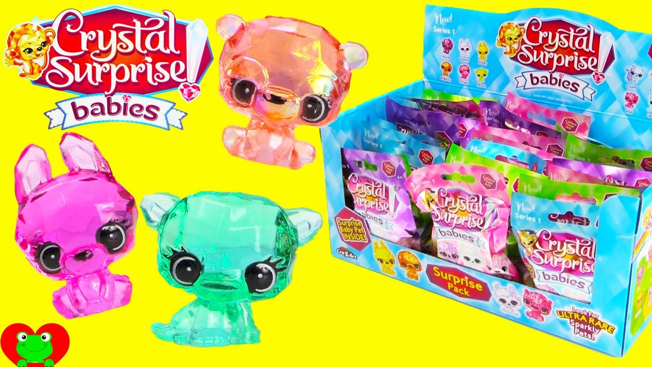 Crystal Surprise Babies Blind Bags Full Case Opening Toy