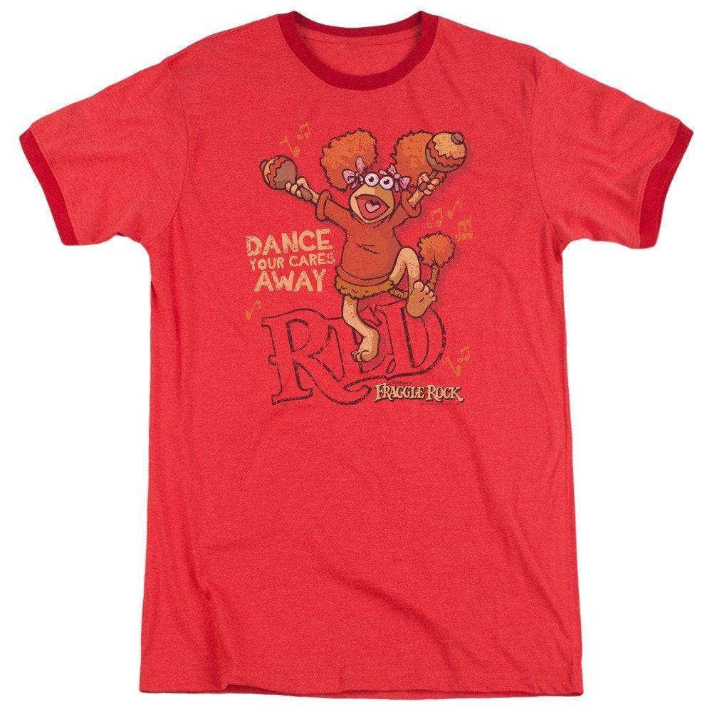 Fraggle Rock - Dance Adult Ringer T- Shirt