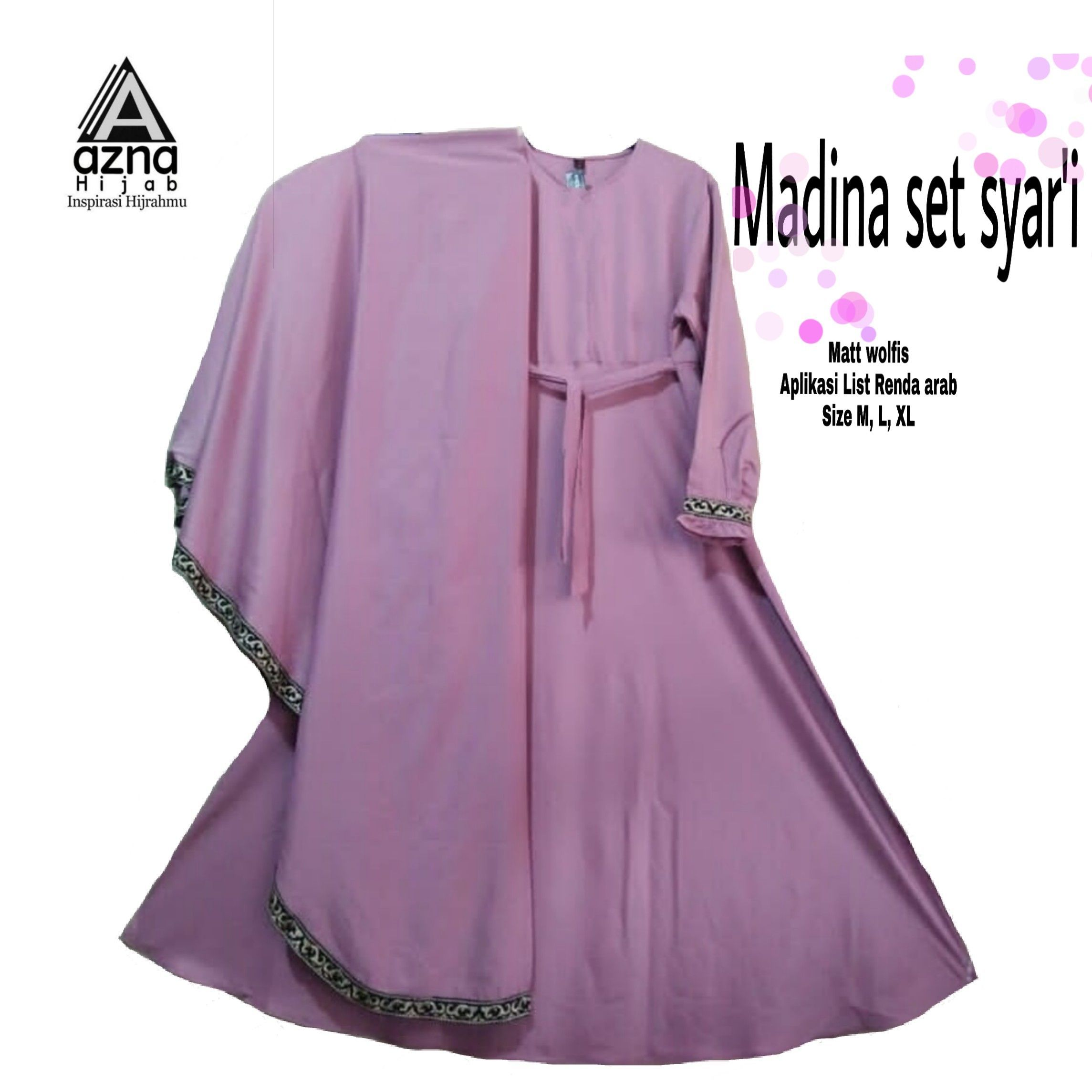 Model Gamis Bahan Wolfis Polos  Model pakaian muslim, Model
