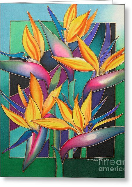Birds of paradise greeting card by maria rova watercolor birds of paradise by maria rova birds of paradise painting birds of paradise fine art prints and posters for sale mightylinksfo