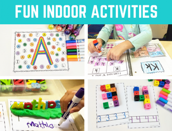 Photo of Fun Indoor Activities for Kids in Preschool, PreK, and Kindergarten