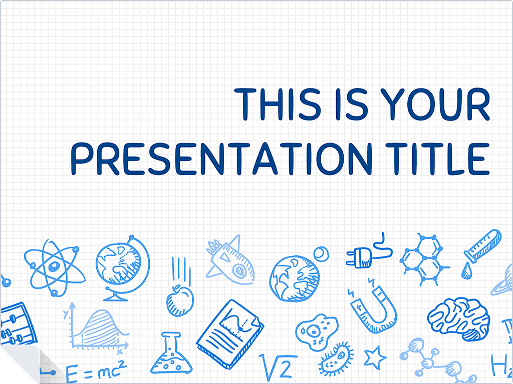 this playful free presentation template uses a science themed, Presentation templates