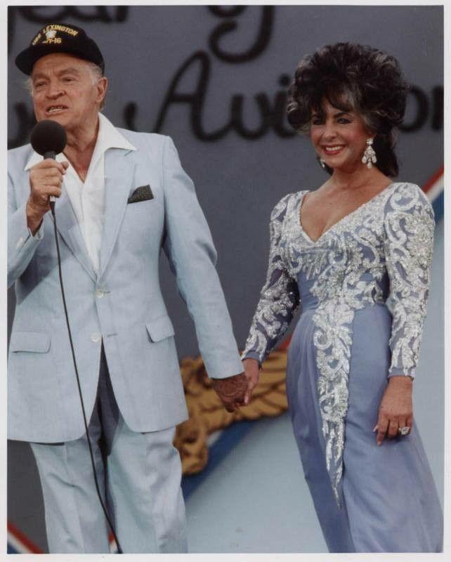 Elysabeth Taylor and Bob Hope