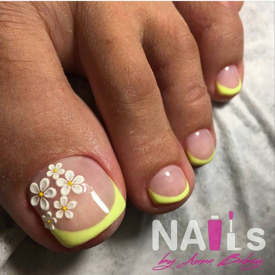 Pin by rosalba cervantes on uñas para los pies pinterest flower