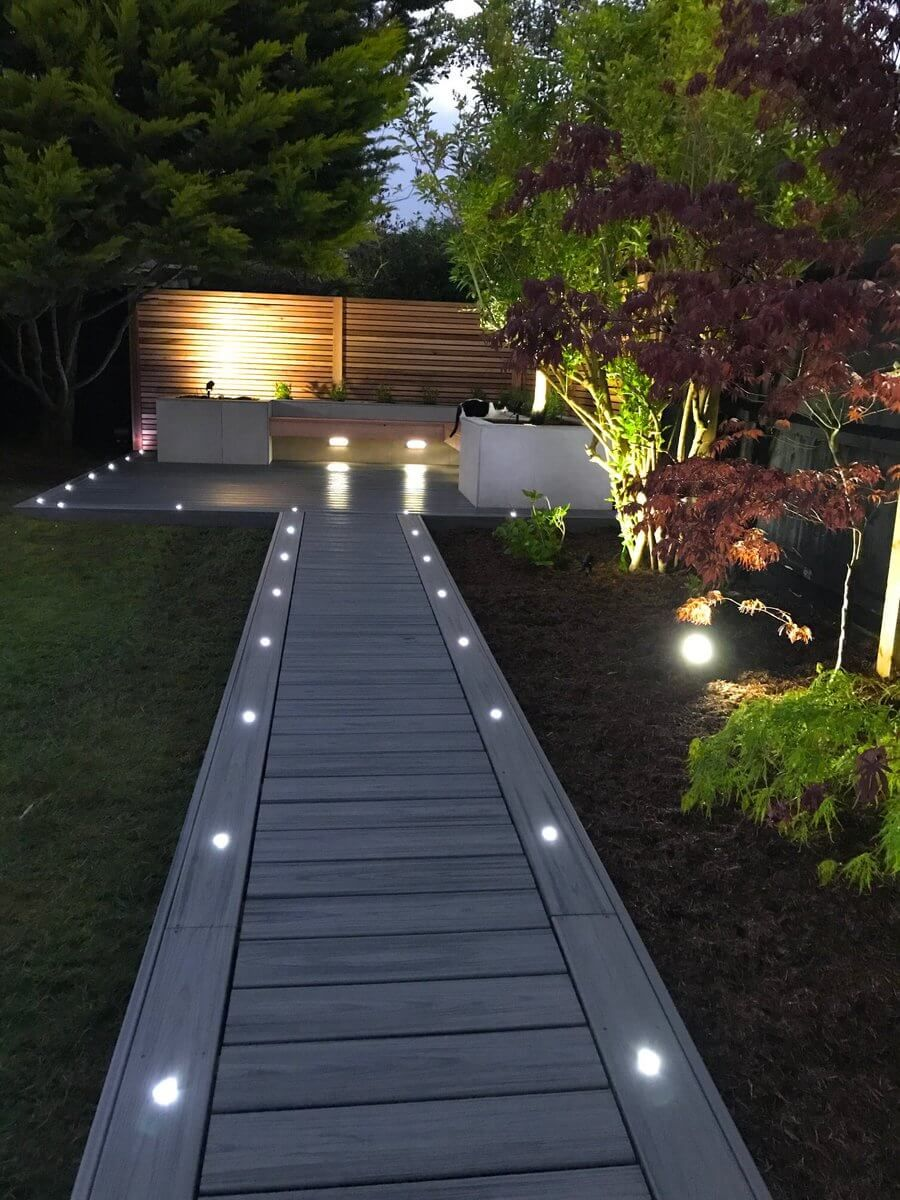 These Covered Deck Lighting Ideas Are Meant To Improve The Overall Look And Enhance The Beauty Patio Garden Design Outdoor Gardens Design Side Yard Landscaping
