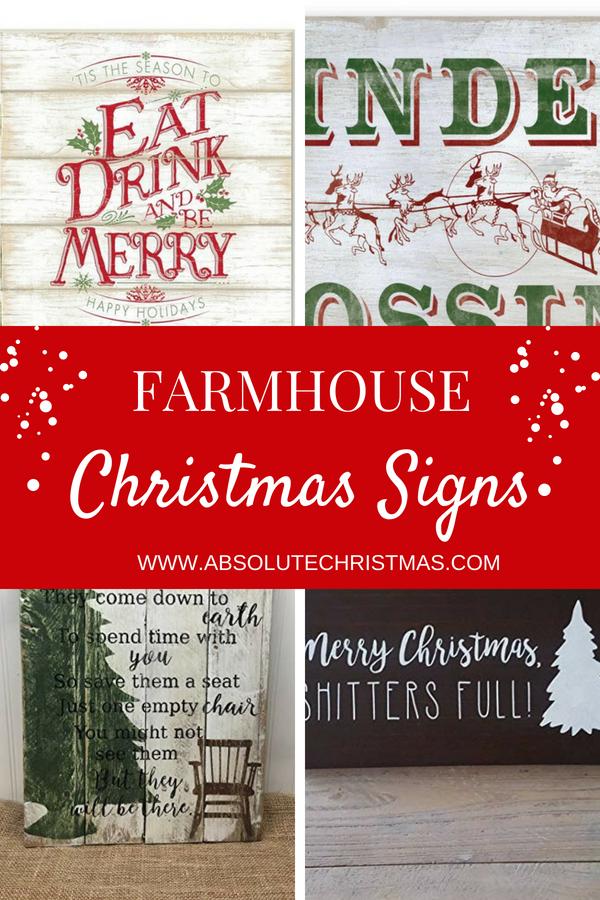 Farmhouse Christmas Signs Rustic Farmhouse Style