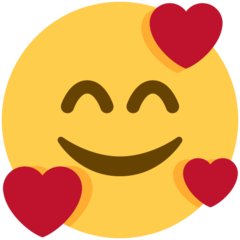 Smiling Face With 3 Hearts On Twitter Twemoji 11 0 Heart Emoji Smile Face Emoji