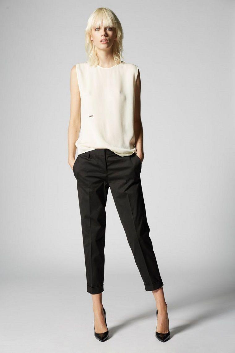 Come indossare e abbinare pantaloni larghi neri (107 ...