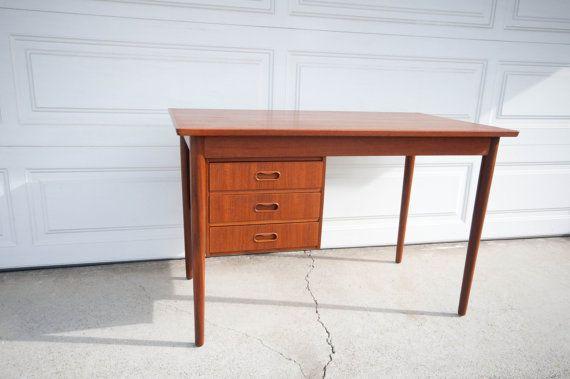 Danish Modern Teak Arne Vodder Desk