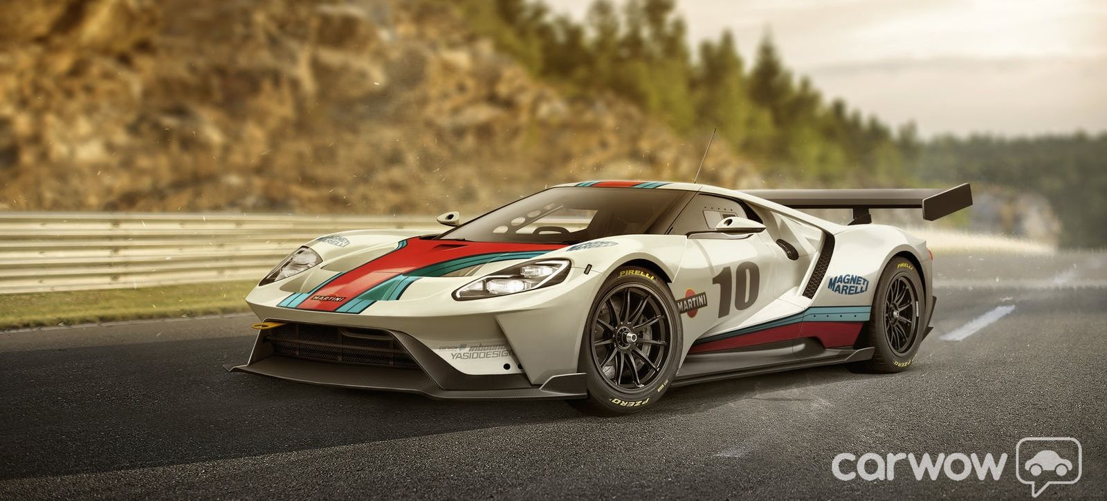 Here S A Ford Gt Race Car With A Martini Livery Ford Gt Super Cars Gt Cars