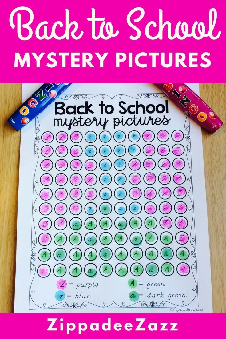 Mystery Pictures for Back to School Dab A Dot | Worksheets ...