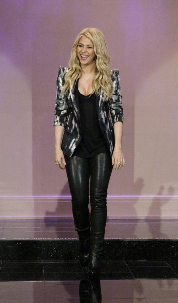 Shakira J Brand Leather Leggings Noir E1368380606758
