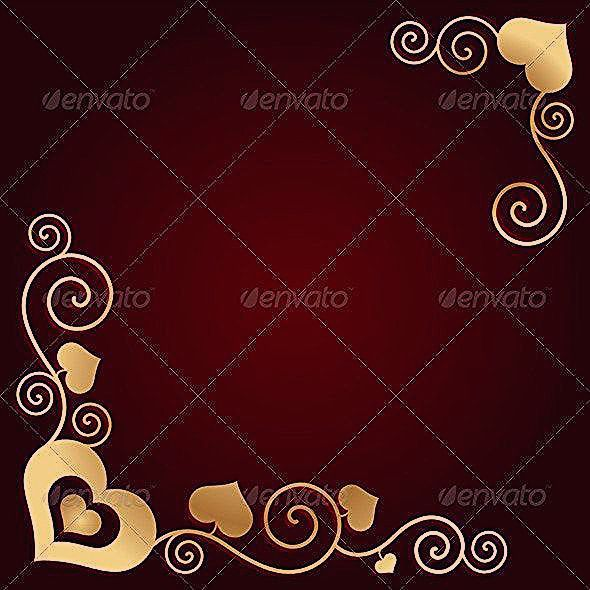 Valentines Day Background with Hearts Valentines Day Background with Hearts