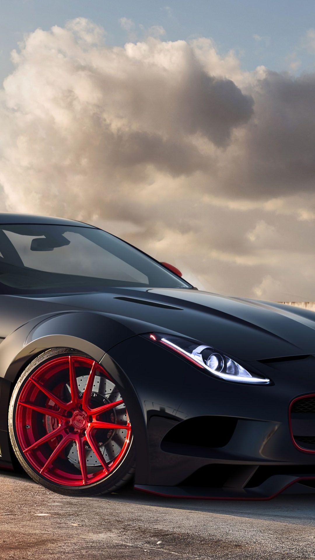 jaguar c-x16 black red rims #iphone #6 #plus #wallpaper | iphone 6~8