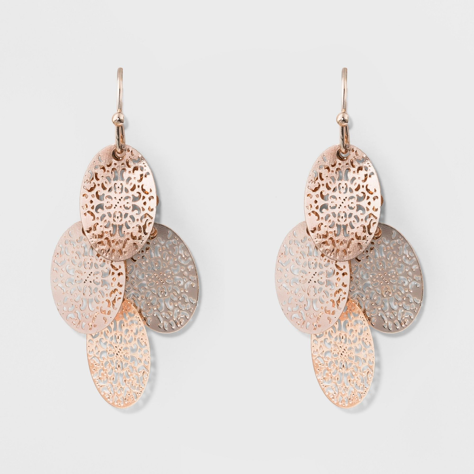a0a98f4e99ad Filigree Chandelier Earrings - A New Day Rose Gold