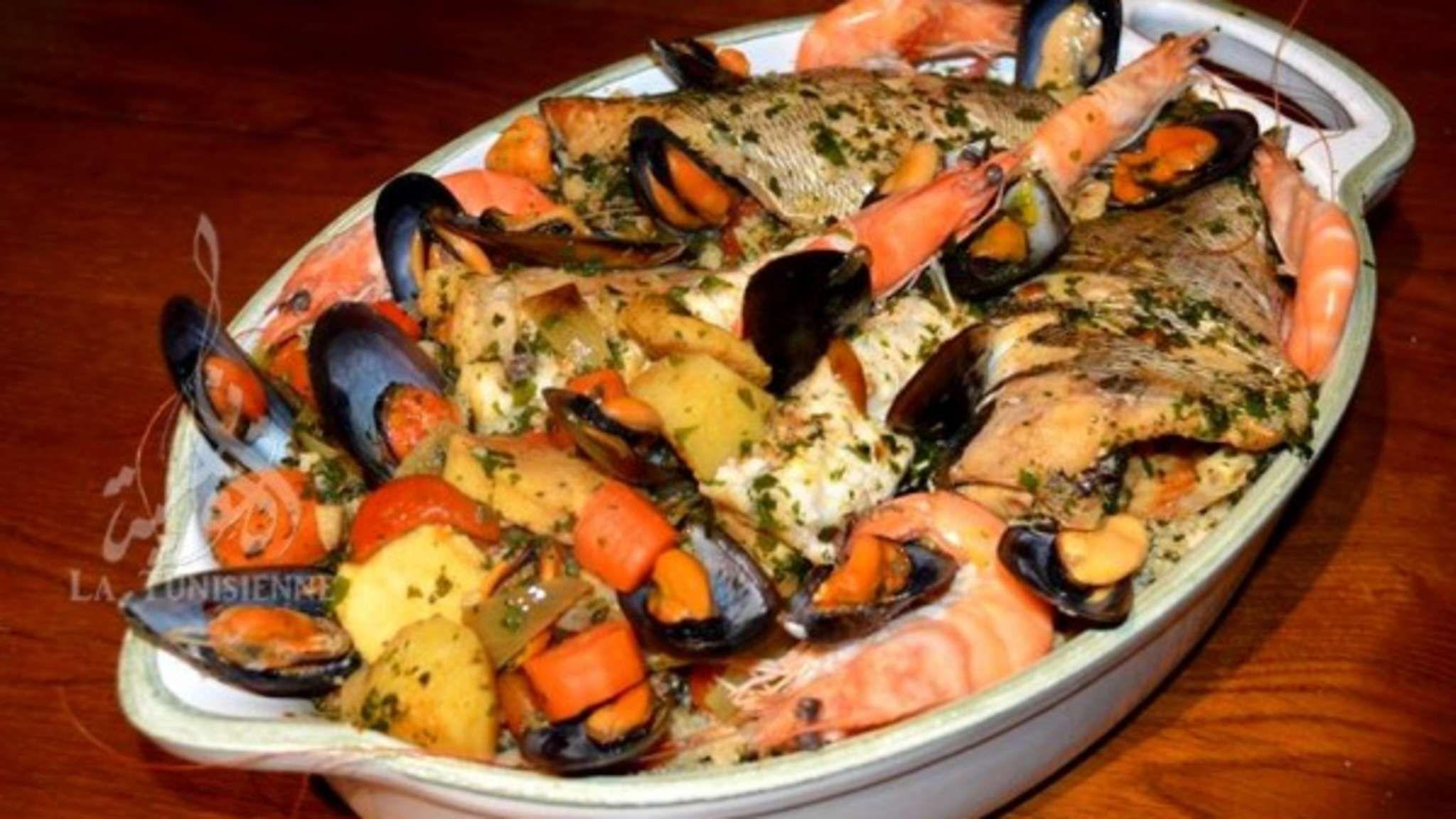 Couscous italien aux poissons et fruits de mer - Recette ...