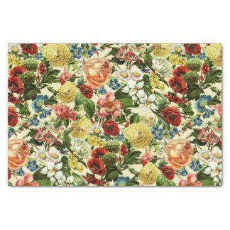 vintage floral craft tissue paper zazzle