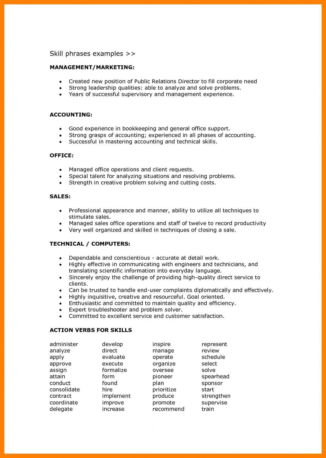 How To Write The Skills Section In Your Resume Resume Skills