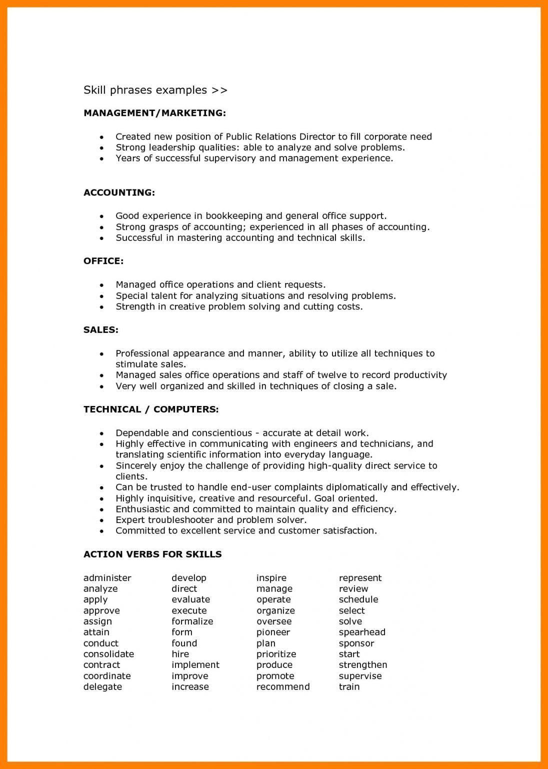 Resume Format Skills , format resume ResumeFormat