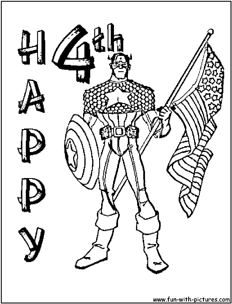 July 4th Coloring Page July4th Independenceday Coloring Page