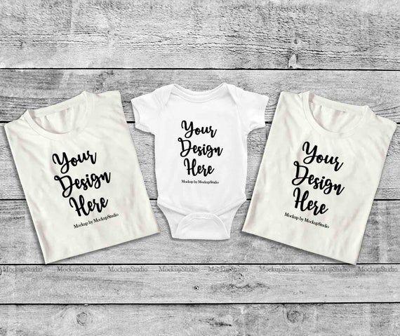 Download Download Free Matching Family Folded White Shirts Mockup Unisex Women T Shirt Psd Free Psd Mockups Te Shirt Mockup Free Psd Mockups Templates Mockup Free Psd