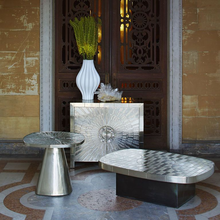Talitha Side TableSide Accent Tables Talitha Side Table Interesting Jonathan Adler Living Room Minimalist