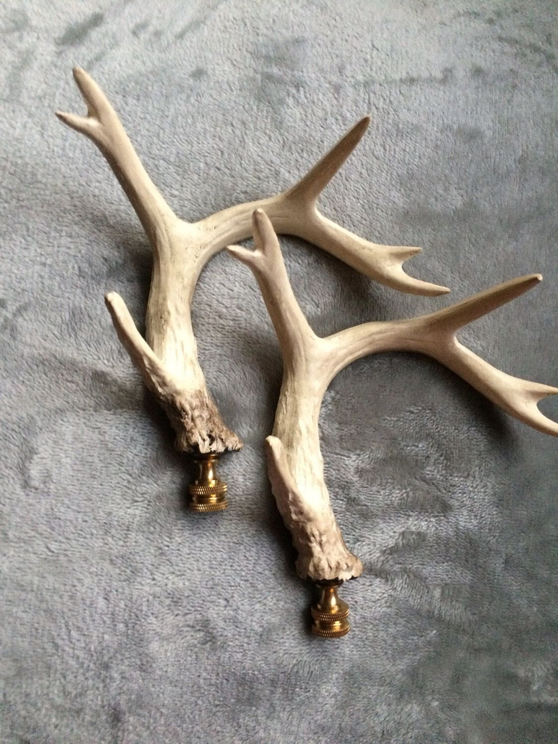large faux antlers lamp finials home decor designer lighting