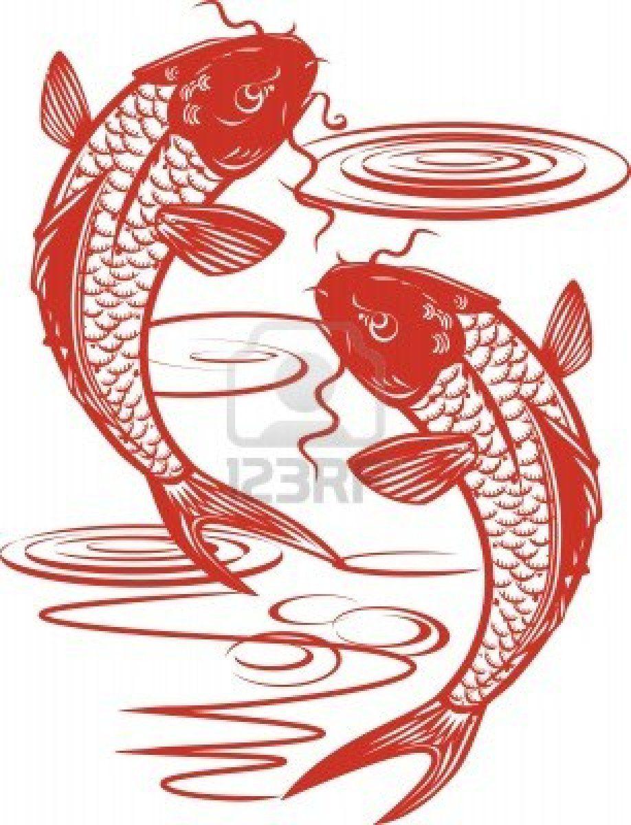 Twin Koi Fish Stock Photo - 9886591 | Tatoos | Pinterest | Koi ...