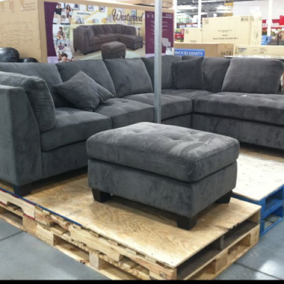 New Sectional From Costco Grey Sectional Sofa Sectional Sofa
