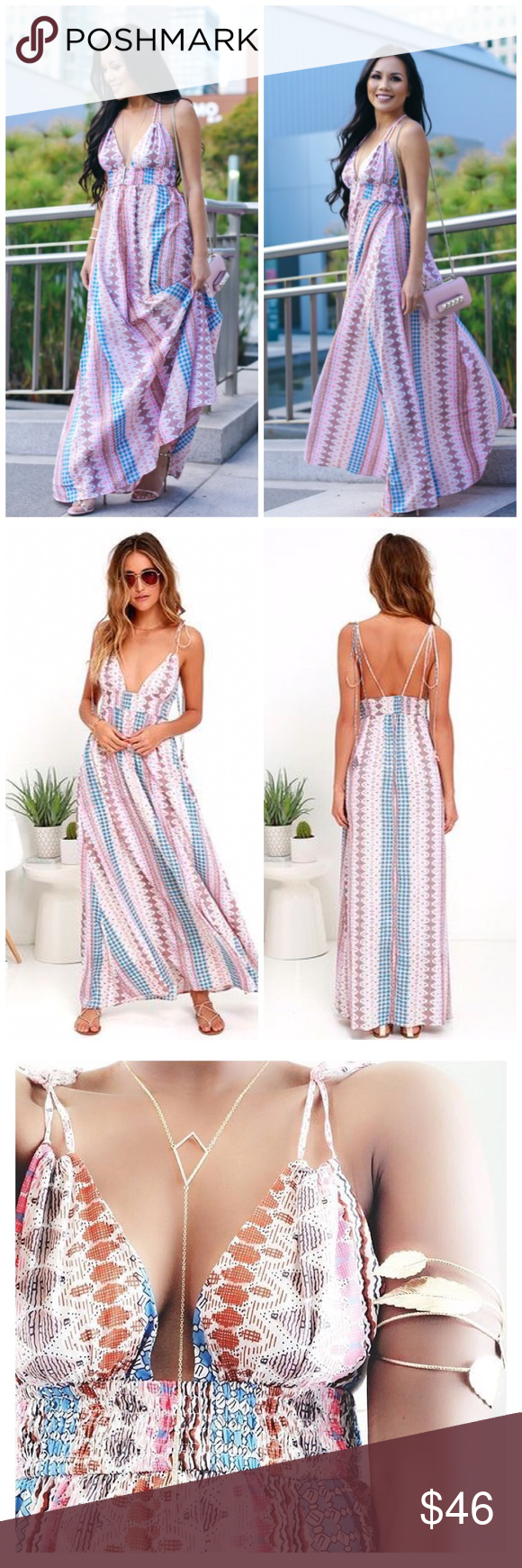Maxin relaxin multi print dress