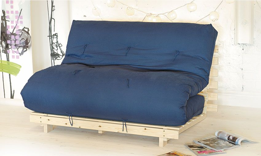 The Tokyo Futon Sofa Bed Has A Slatted Pine Base And 6 Layer Mattress