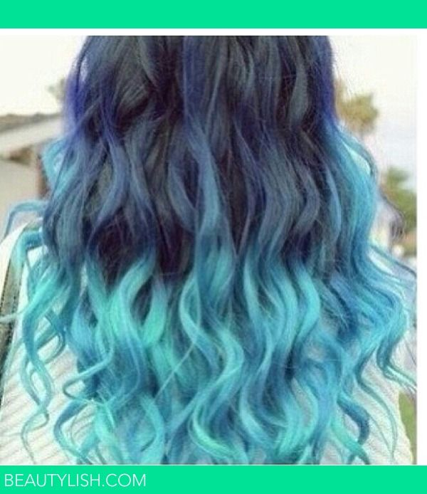 ombre hair blue hairstyles