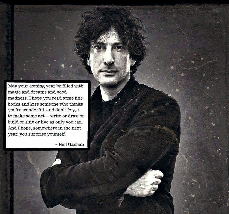 Creative mind; caring heart. LOVE Neil Gaiman