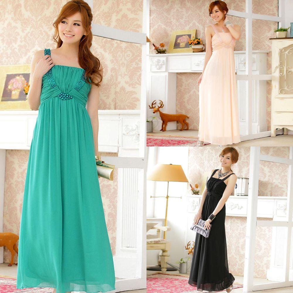 Details about high temperament beaded ball gown long prom bridesmaid