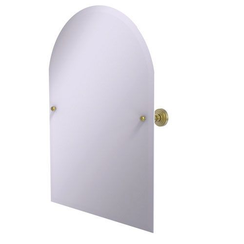 Frameless Arched Top Tilt Mirror with Beveled Edge, Satin Brass - (In No Image Available)