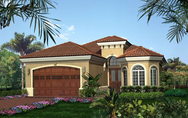 Spanish homes home plans house plan courtyard home for Prefab mediterranean style homes