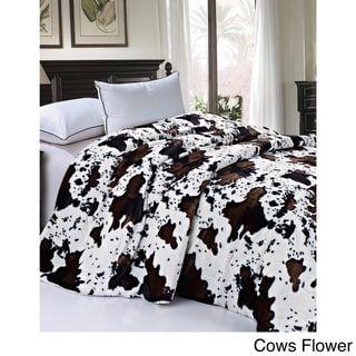 Serenta Faux Fur Sherpa Backing Bed Blanket Faux Fur