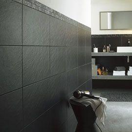 Pour sol cuisine Carrelage mural noire Ardoise 25 x 40 cm | Cuisine ...