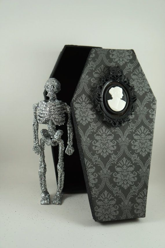 Spooky Halloween Coffin Decoration by SparkleLovesWhimsey on Etsy
