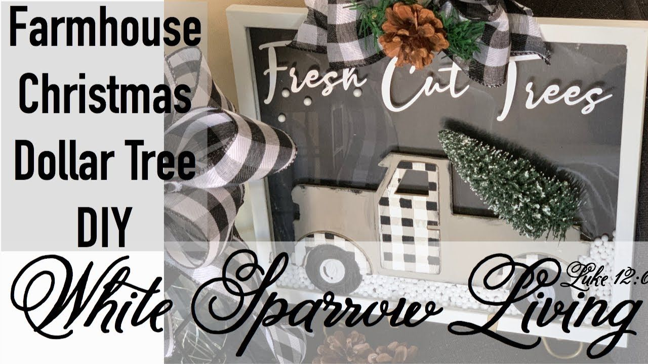 DIY DOLLAR TREE CHRISTMAS FARMHOUSE BUFFALO CHECK TRUCK SIGN - YouTube #dollartreecrafts