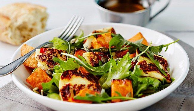 Bataatti-grillijuustosalaatti - K-ruoka