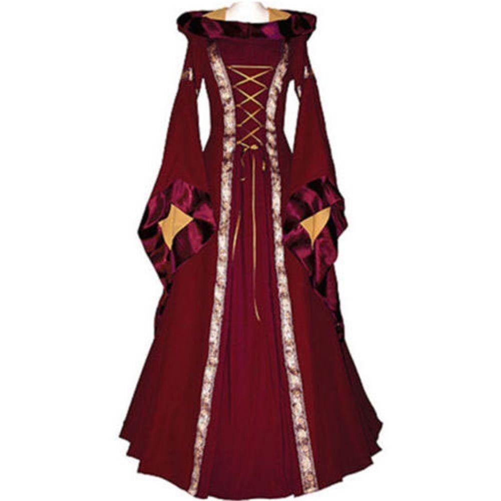 Damen Kleid Anna5254Schwarz Bordeaux Dornbluth Mittelalter OPiXZku