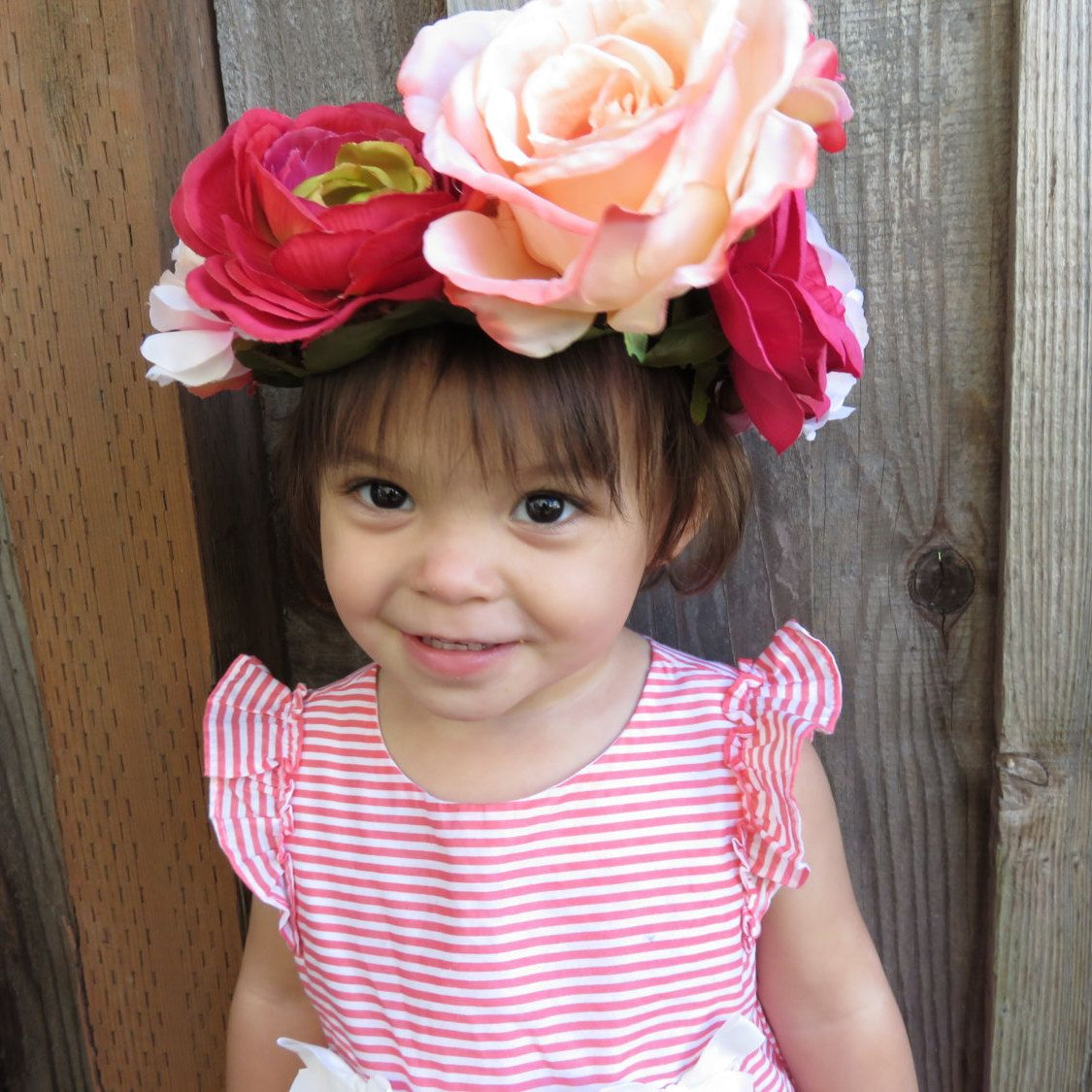 Toddler girl flower crown bohemian kids flower crown little girls toddler girl flower crown bohemian kids flower crown little girls flower halo large izmirmasajfo Gallery