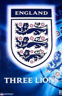 Team England Football Three Lions Crest Poster Starline Inc England Football England National Football Team England Football Team